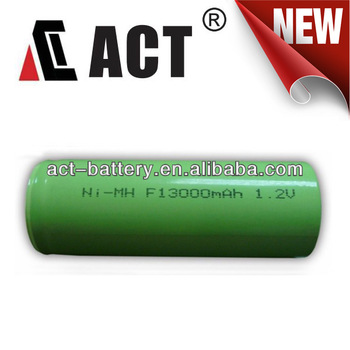 1.2 V F Size Battery 13Ah NiMH Rechargeable Battery for lighting and industrial battery
