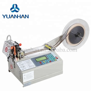 Automatic zig zag fabric ribbon cutting machine with hot blade