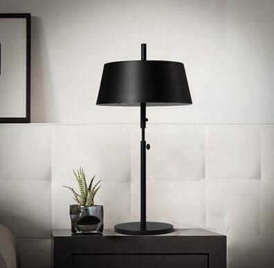 Black Iron Table Light Simple Style Modern Hotel Bedside Lamp 16-T5702-1