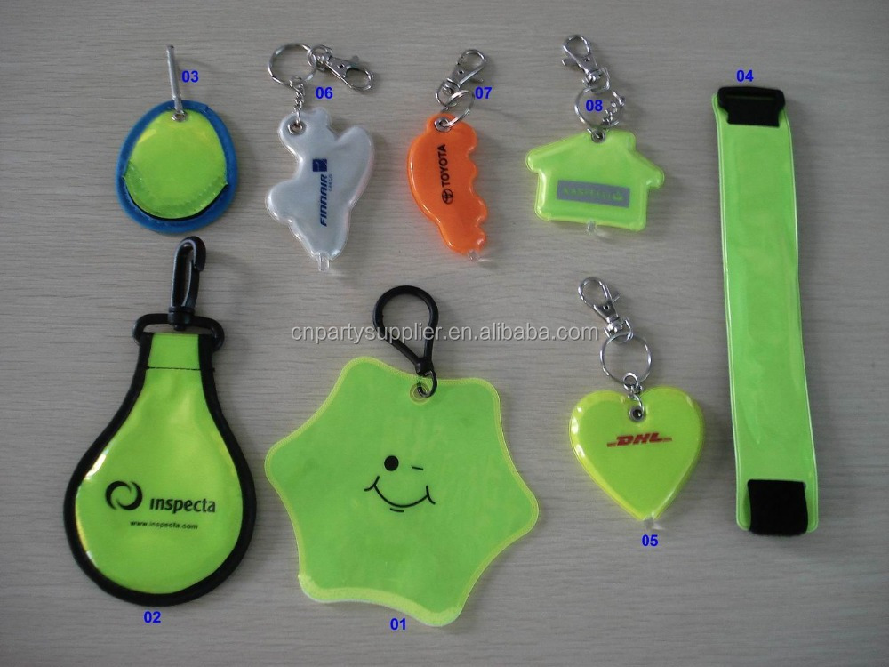 Reflective Safety Vest Key Tag Reflector safety Vest Keychains