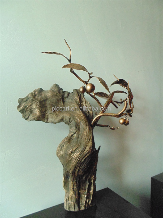 Antique wood root carving sculpture in nature style