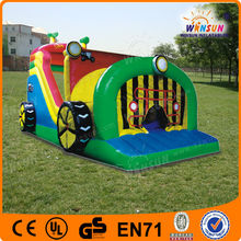 Amazing China wholesale children playing crazy inflatable car slide