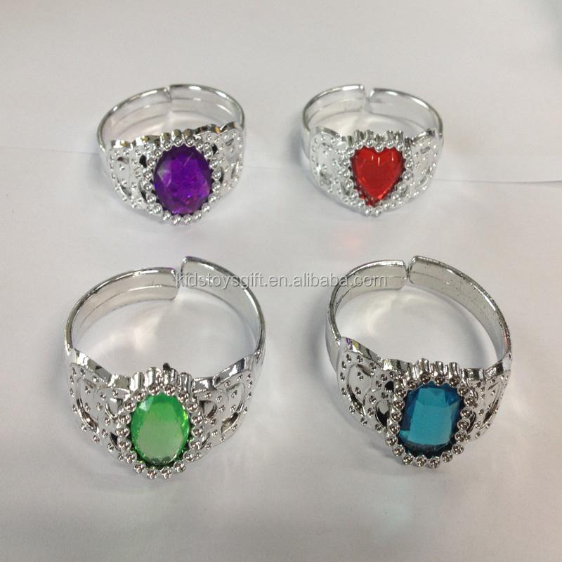 Shaped Gem Stone Rings Kids Plastic Ring Toys Buy Cheap