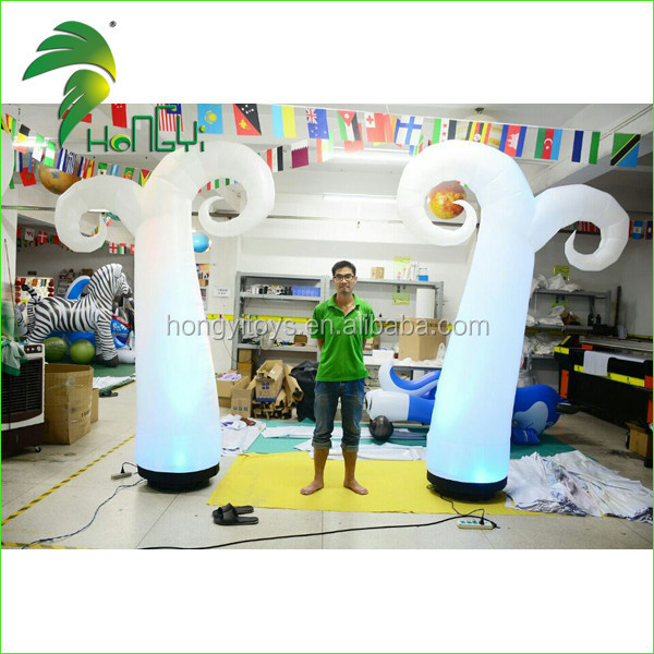 Cheap Advertising Lighting Inflatable Cone / Inflatable Cone / Inflatable Pillar for Christmas