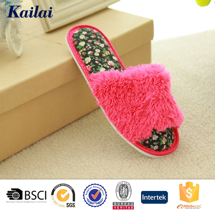 hot sale fashion comfortable plush lady <strong>slipper</strong> from Yangzhou