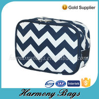 Factory direct chevron pritned cheap cosmetic pouch girls