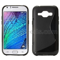 S Shape Soft TPU Back Case for Samsung GALAXY J1 J100