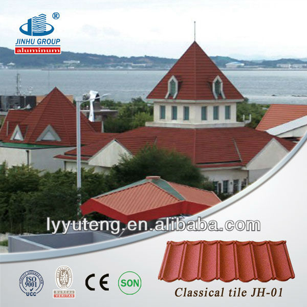 Low prices stone coated metal roofing shingles prices for Low cost roofing materials