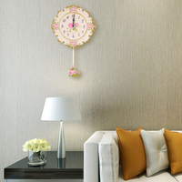 retro flip down sample stained glass settler design wall clock internal gear operated squared masculine standard time wall clock