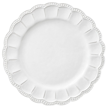Royal decorative wedding charger plate stocked embossed white color dinnerware set plate wholesale ceramic tableware plate