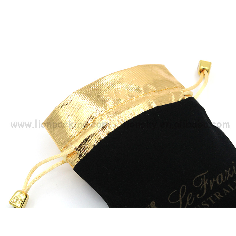 Popular Necklace Custom Velvet Drawstring Bag For Jewelry
