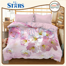 GS-XHY P026 beautiful 3d bed sheet bedding sets for big markets