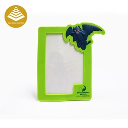 Promotional Gift Cheap Wholesale metal / soft plastic picture frames with fridge magnet