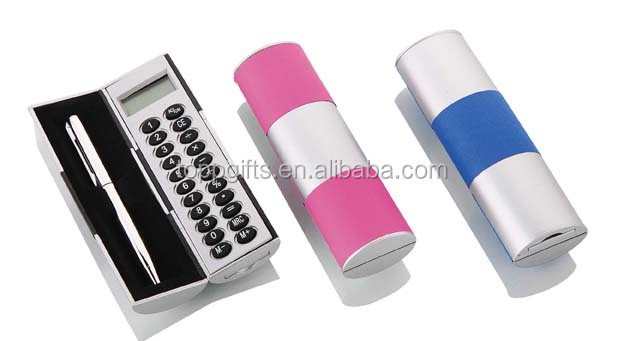 promotional plastic mini magic calculator with pen