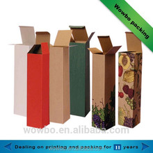 Cheap corrugated cardboard folding lid wine box