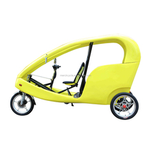 3 Wheel Germany Velo Taxi Style Hot selling Pedal Assist Battery Powered Electric Cycle Auto Pedicab, Passenger Use Rickshaw