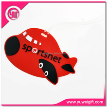 samples free pvc airplane shape plastic luggage tag for travelling