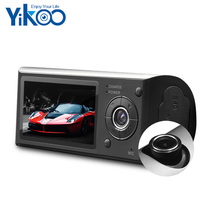 Full HD 1080p dual lens r300 manual car camera hd dvr with gps built-in G-sensor car camera