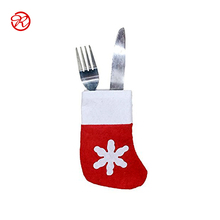 Xmas Decoration Gift Bag Christmas Stocking Cutlery Holder for Table Ornament