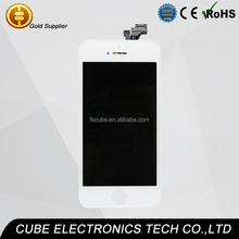 CUBE A++ Grade LCD Full set Display Digitizer For iPhone 5 Touch Screen Digitizer Assembly Replacement lcd for iPhone 5g