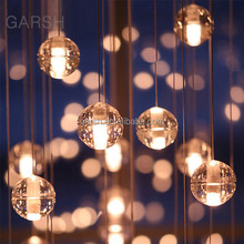 LED Crystal Chandelier Hotel Restaurant House Lighting Ceiling Modern Bubble Ball Pendant Light