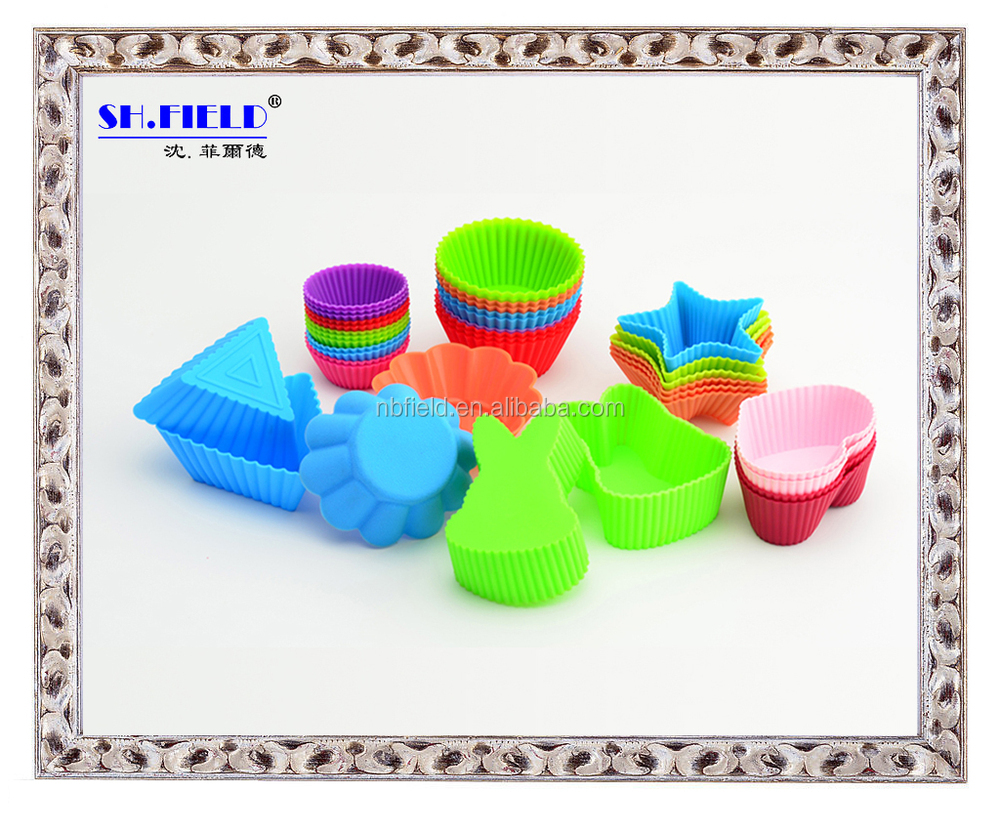 Lovely heart shape silicone muffin cup/cake cup