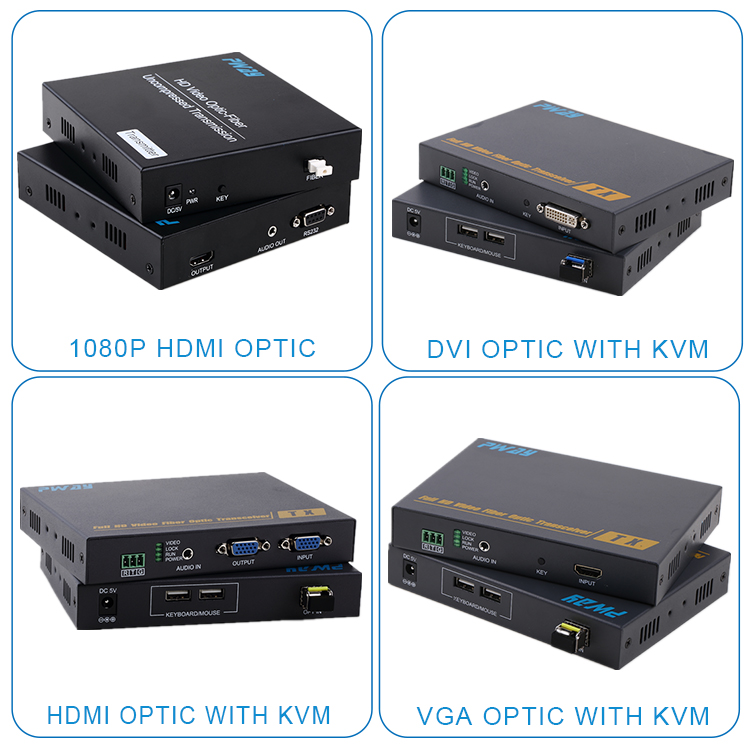 Audio video HDMI /DVI extender optical fiber transmitter