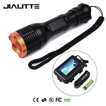 Jialitte F103 Aluminum High Power XML-T6 1000lm Zoomable Led Tactical Flashlight Set