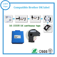 Compatible brother dk paper roll 22205 thermal labels for brother QL printers DK2205 DK22205