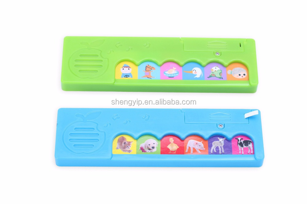 novelty apple shape musical module with press keys used for children talking book