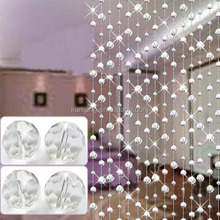 Decorative crystal glass Eco-friendly beads curtains for doors
