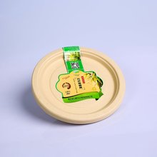 Hot Sale environmental 9'' round bamboo disposable plate