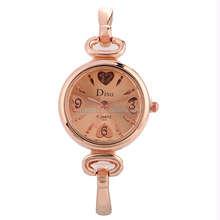 2017 cheap metal lady wrist new heart think strap watches women lady
