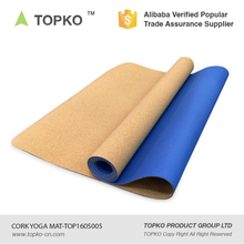 TOPKO Wholesale china custom made print eco cork tpe yoga mats