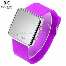 Latest fashion square touch screen watch smart programmable led watch