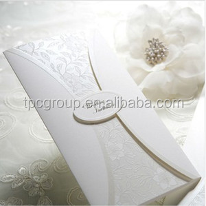 2014 wholesale Luxurious /Unique Wedding Invitation card B9010