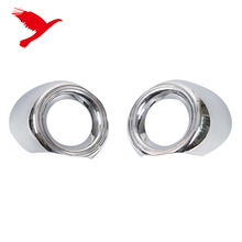 2PCS/Pair ABS Chrome Front Fog Light Lamp Cover Ring Trim For Ford Mustang 2015 2016 2017 2018