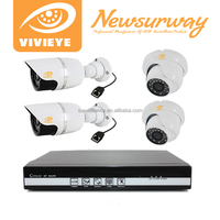 H.264 CCTV DVR kit HD 4ch POE NVR Kit IP Camera System