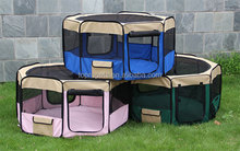 Soft Pet Playpen Exercise Puppy Dog Cat Play Pen Kennel Folding Crate