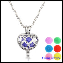 Silver Pendant Heart Locket Shape Necklace Stainless Steel