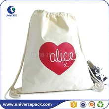 New Design Customized Organic Cotton Sports Shoe Bag With Drawstring