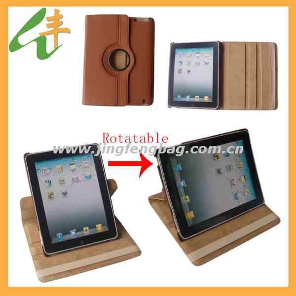 hot sale design leather rotatable tablet case