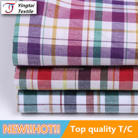 Polyester/cotton tc fabric 65/35 formal shirting fabric yarn dyed oxford fabric for men's shirts,ladies' shirting,kids' clothing