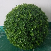 big high quality low price fake green ball home/garden/shopping hall indoor&outdoor decoration artificial green boxwood ball