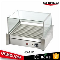 commercial kitchen equipment hot dog bun warmer surgery hot dog roller steamer snack machine HD-11X