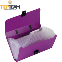 Plain Color Plastic Expanding File Folder With Handle, A4/A5, 10-100 Pocket