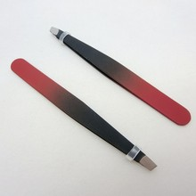 red and black stainless steel 9.6cm 13g new style eyebrow tweezers