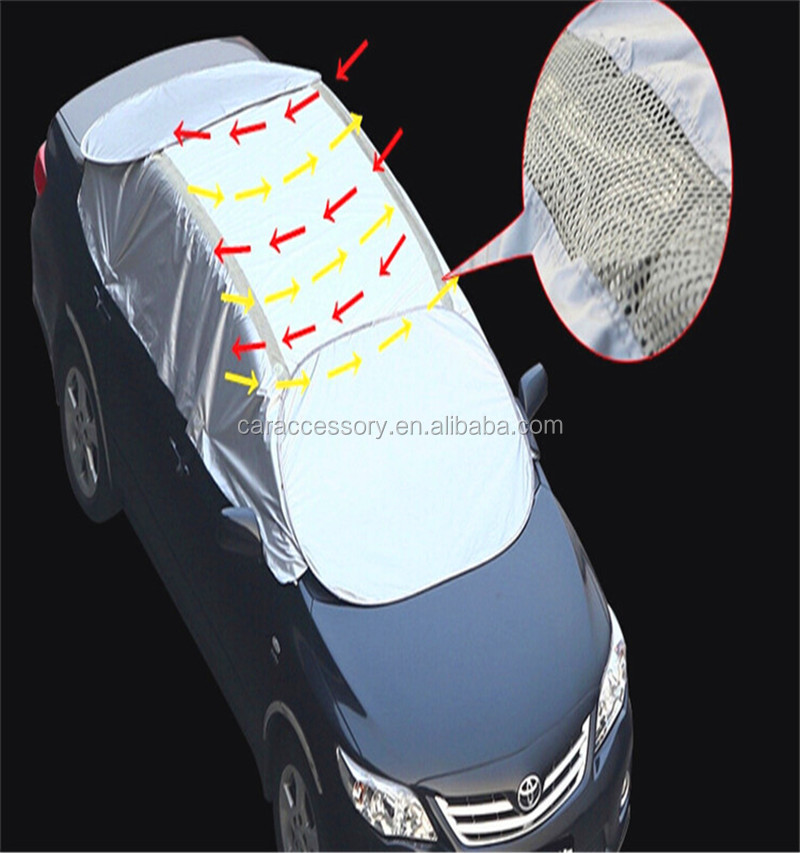 Sun shade fabric heat resistant half car cover