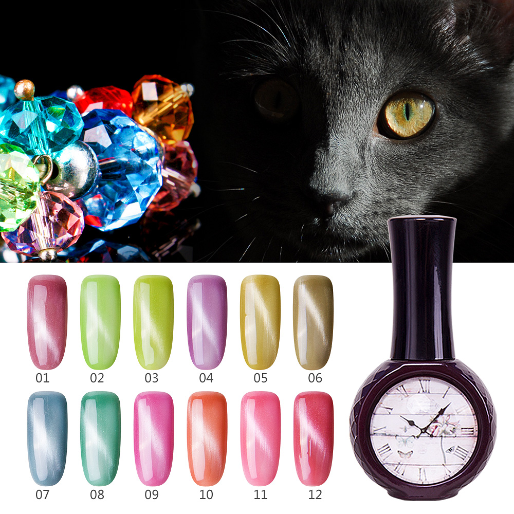 New arrival nail polish manufacturers usa your own brand makeup Jewelry cat eye gel polish