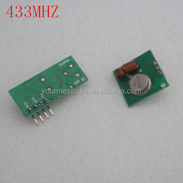 One Set 433mhz Wireless receiver module + Wireless Transmitter Module without encoding for sale !